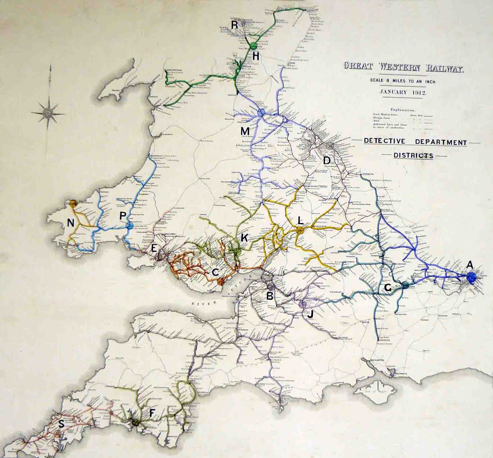 GWR Detective Department map