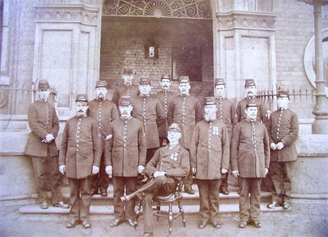 Police at Grimsby Docks 1895